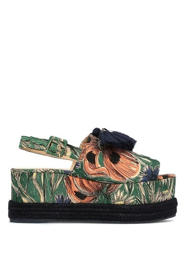 Castaner Dolgu Topuklu Sandalet Renkli